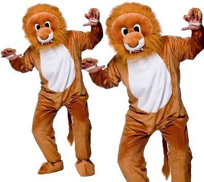 Erwachsene Leo Löwe Maskottchen Kostüm Unisex Dschungeltier Großer - Löwe Kopf Kostüme