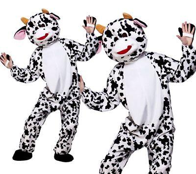Erwachsene Süß Kuh Maskottchen Kostüm Unisex Nutztier Kostüm Outfit Neu