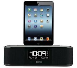 iHome iDL95 Lightning Dock Clock Radio and USB Charge/Play for iPhone/iPad