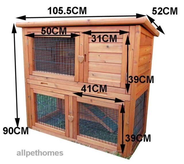 Large Rabbit Hutch Ferret Cage Guinea Pig Run G101 Pet