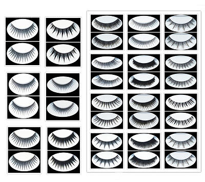 1 /5Paar Künstliche Wimpern Falsche Lash Strip Eyelash (ab 5x +1 Kleber