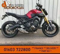 YAMAHA MT - 09 2016 RED **FSH - BEAUTIFUL EXAMPLE** MT09
