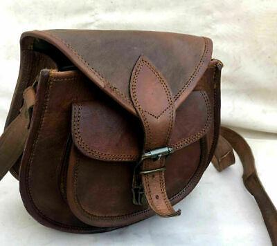 Bag Satchel Messenger Best gift Vintage Womens Genuine Real Leather cross body (Best Messenger Bags For Women)