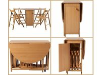 ARGOS HOME Butterfly Oak Oval Dining Table and 4 Chairs. As New!
