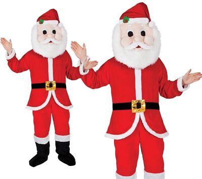 Herren Damen Unisex Weihnachtsmann Weihnachten Kostüm - Weihnachtsmann Maskottchen Kostüme