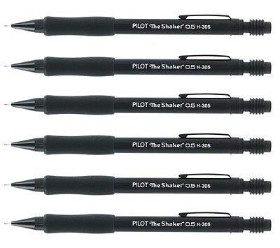 """Pilot The Shaker Mechanical Pencils, 0.5 mm, Black Barrel, 6/Pack"""