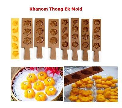 Thai Traditional Dessert Khanom Thong Ek Mold Wheat Flour Dumplings Egg Yolks