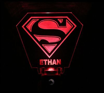 Superman Night Light - Superman Man Night Light Red Personalized
