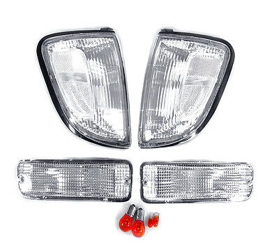 DEPO Clear Corner Lights + Bumper Signal Lights For 1997-2000 Toyota Tacoma 2WD ()