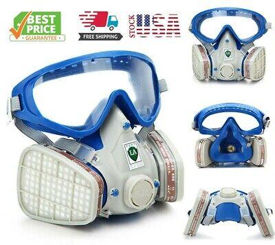 Full Face Gas Mask Painting Spraying Respirator Facepiece Reusable Respirator Us