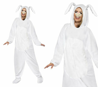 Easter Bunny Costume Adult White Rabbit Fancy Dress - White Rabbit Outfit