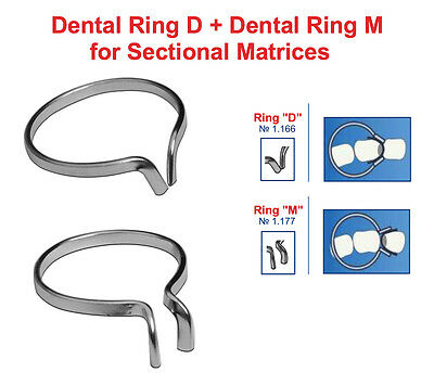 2x Dental Ring M Ring D For Metal Sectional Matrices Matrix As Palodent