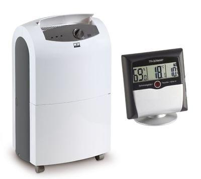 Remko ETF 320 Luftentfeuchter + Comfort Control Thermo-Hygrometer mit Alarm