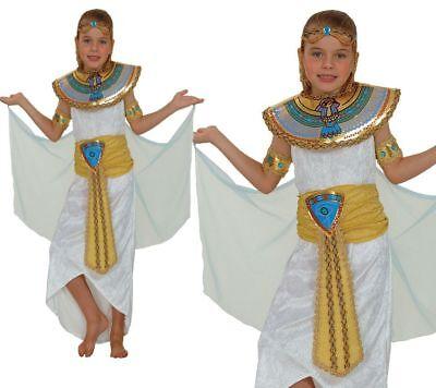 Kinder Königin Kleopatra Ägyptisch Prinzessin Schickes Kleid Mädchen-kostüm - Nil Königin Kleopatra Kostüme