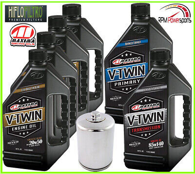 Complete Engine Oil Change Kit V-Twin Synthetic Blend HD Twin Cam 6quart (Crc Engine)