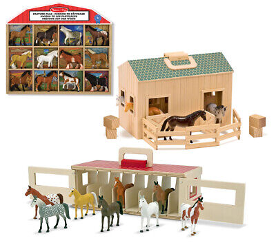 e Stall Pferde-Box Figuren Spielzeug Spielfiguren ab 3 Jahre (Melissa Doug)