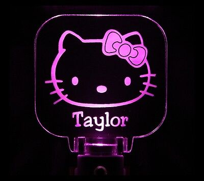 Hello Kitty Night Light Girls Personalized LED Sensor -