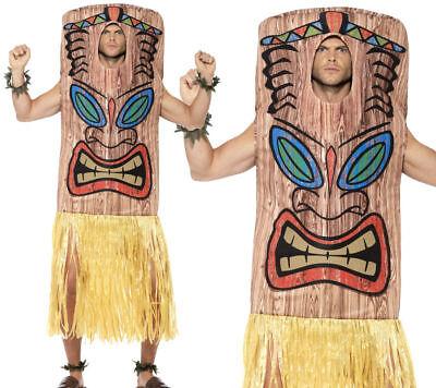 Tiki Totem Costume Mens Hawaiian Fancy Dress Beach Party Costume One Size - Tiki Costume