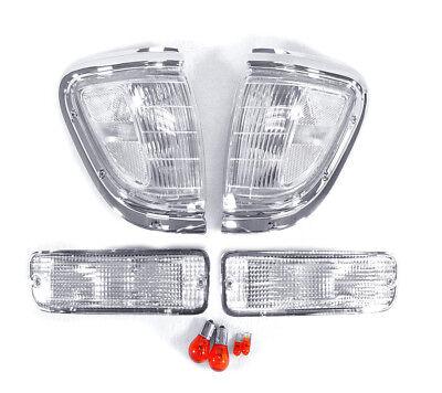 - DEPO Chrome / Clear Corner + Bumper Signal Lights Fit 95 96 97 Toyota Tacoma 4WD