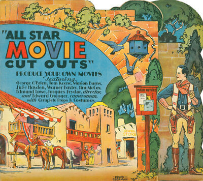 ALL STAR MOVIE CUT-OUTS - Large color prints of the rare 1934 paper (Movie Cut Outs)