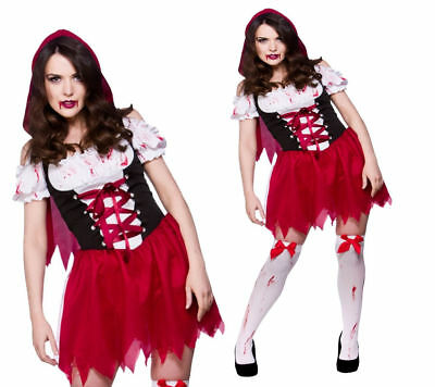 Fairy Tale Little Red Riding Hood Costume Horror Ladies Fancy - Fairy Tale Little Red Riding Hood Kostüm