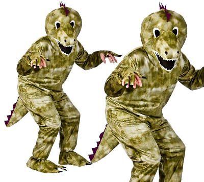 Dinosaurier Maskottchen Kostüm Unisex T-Rex Tier Großer Kopf Kostüm Outfit