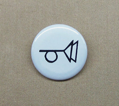 """The Crying of Lot 49 - Muted Post Horn Logo Button 1.25"""" Thomas Pynchon Tristero"""