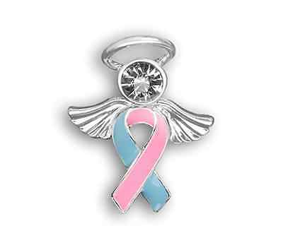 Pregnancy and Infant Loss Awareness Ribbon Pin Child loss Miscarriage Angel Tac](Pregnancy And Infant Loss Ribbon)