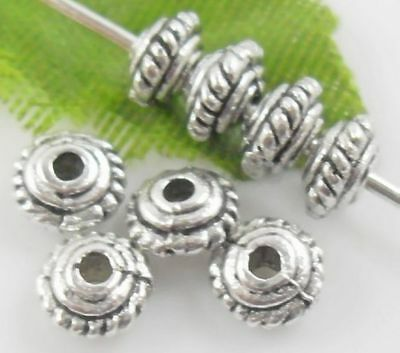 100pcs Tibetan Silver Spacer Beads 3x5mm (Lead-free)