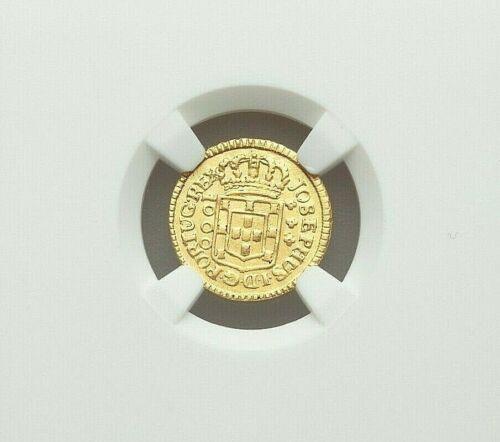 1774 (L) BRASIL DOM JOSE I GOLD 1000 REIS NGC AU-DETAILS (EDGE FILING)