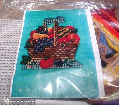 Design Works FRUIT BASKET Wall Hanging Plastic Canvas Kit Nice! for sale  Shipping to India