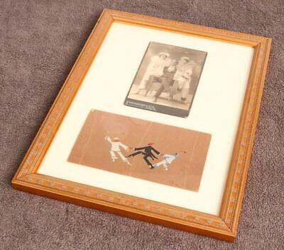Old Framed Art Photo with Dancers Sketches Collage Unusual Framed Beautiful  IO