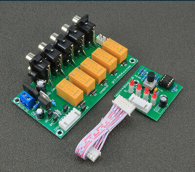Input Kit (Audio Input Signal Selector Module 4 In 1 Out Relay Audio Switching DIY Kits)