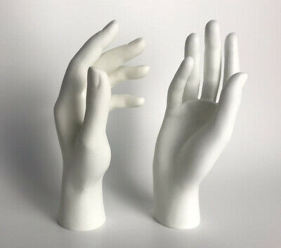 2019 New 1pair Female Mannequin Hand Arm Display Base Gloves Jewelry Model White