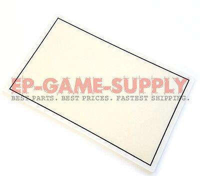 Lcd Plastic Bezel - LCD Screen Top Plastic Cover Frame Bezel for Nintendo 3DS XL White