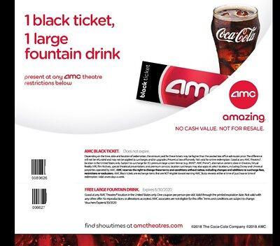 2 AMC Movie Tickets 2 Large Drinks 2 Popcorns