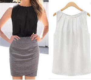 New Fashion Women Summer Vest Sleeveless Chiffon Blouse Casual Tank Top T Shirt