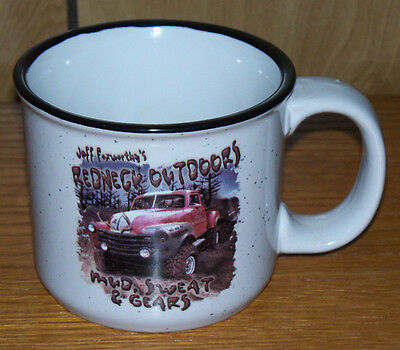Jeff Foxworthy's Redneck Outdoors Coffee Mug Cup Mud Sweat and Gears 12 Ounces
