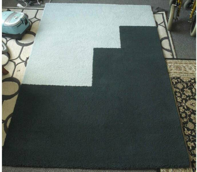 Carpet Floor Rug Ikea Light Blue