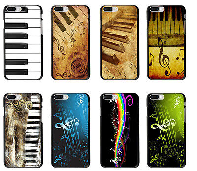 7 Music Notes (Piano keys Vintage Music Notes Rubber Case Cover For iPhone 6S 7 Plus X Xs)