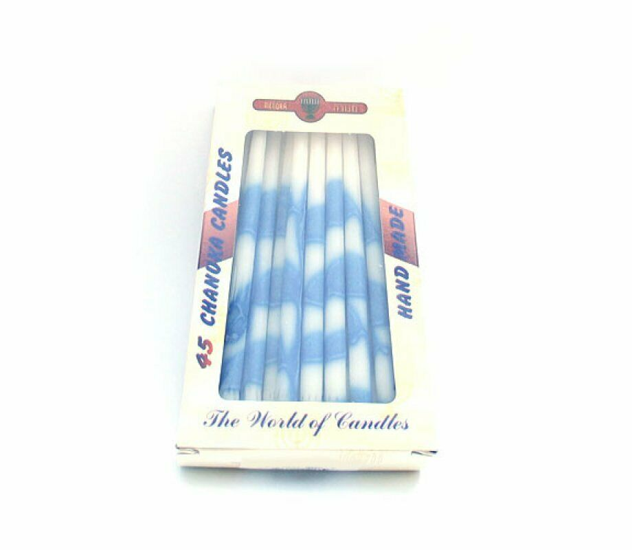 Hanukkah Premium Long Dripless Candles Blue White Jewish Kosher Chanukah Menorah