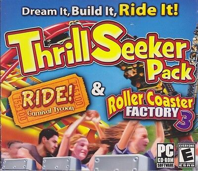 Computer Games - Thrill Seeker Pack PC Games Windows 10 8 7 XP Computer tycoon coaster NEW