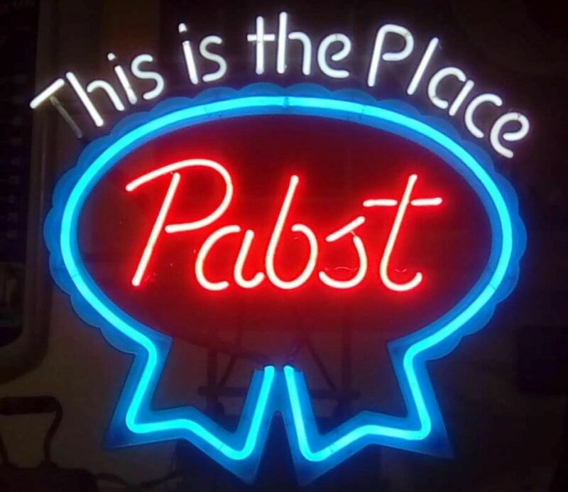 "Pabst Neon Sign ""This Is The Place"""