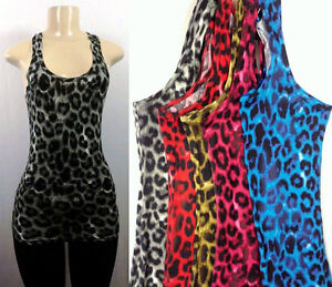 New-Womens-Animal-Print-Leopard-Tank-Top-Casual-Sleeveless-Cross-Back-Camisole