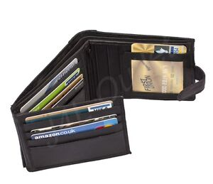 NEW-Lovely-Quality-Mens-Soft-Black-Leather-Wallet