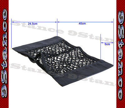 Best For Back Seat Black Small Storage Bag Container Net - Adhesive Velcro