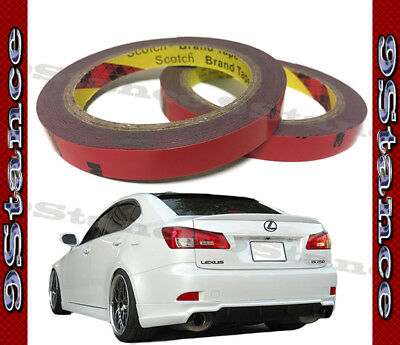 Best For Auto Car Spoiler 3M Double-Sided Tape Two Rolls Pack Gray Acrylic