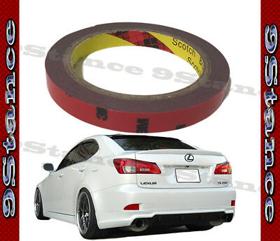 Best For Auto Car Spoiler 3M Double-Sided Tape One Roll Pack Gray Acrylic