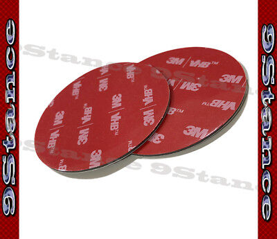 Best For Auto Car GPS Sticker 3M Double-Sided Tape 2PCS Round Black Acrylic