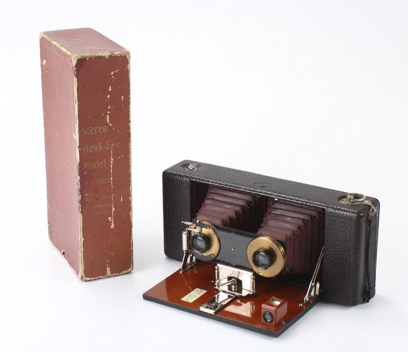 KODAK STEREO HAWK-EYE, MODEL 3, IN WORN BOX/cks/196600